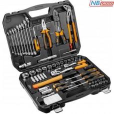 """Набор инструментов Neo Tools 100 ед., 1/4 """", 1/2"""", CrV, кейс (08-920)"""