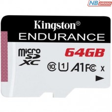 Kingston 64GB microSDXC Class 10 UHS-I U1 A1 High Endurance (SDCE/64GB)