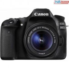 Цифровой фотоаппарат Canon EOS 80D + 18-55 IS nano USM (1263C038)