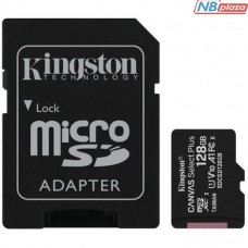Kingston 128GB microSDXC UHS-I U1 V10 A1 Canvas Select Plus + adapter (SDCS2/128GB)