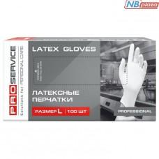 Перчатки латексные PRO service Professional L 100 шт белые (17200720)