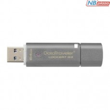 Kingston 64GB DataTraveler Locker+ G3 USB 3.0 Grey (DTLPG3/64GB)