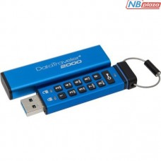 Kingston 32GB DataTraveler 2000 Keypad Access USB 3.1 Blue (DT2000/32GB)