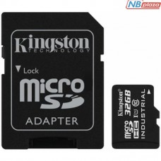 Kingston 32GB microSDHC Class 10 UHS-I U1 Industrial + adapter (SDCIT/32GB)