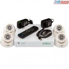 Комплект видеонаблюдения GreenVision GV-K-S12/04 1080P (5524)
