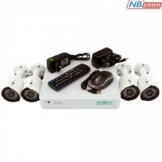 Комплект видеонаблюдения GreenVision GV-K-S13/04 1080P (5525)