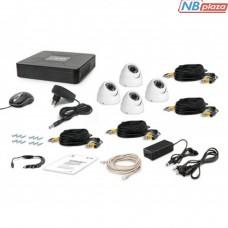 Комплект видеонаблюдения Tecsar AHD 4OUT-DOME (6362)