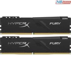 Модуль памяти для компьютера DDR4 16GB 3733 MHz HyperX Fury Black Kingston (HX437C19FB3K2/16)