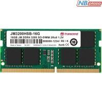 Модуль памяти для ноутбука SoDIMM DDR4 16GB 3200 MHz Transcend (JM3200HSB-16G)