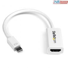 MDP2HD4KSW Адаптер Startech Mini DisplayPort to HDMI 4K Audio / Video Converter – mDP 1.2 to HDMI Active Adapter for Mac Book Pro / Mac Book Air – 4K 30 Hz - White