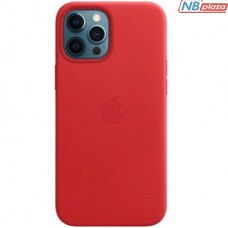 Чехол для моб. телефона Apple iPhone 12 Pro Max Leather Case with MagSafe - (PRODUCT)RED (MHKJ3ZE/A)