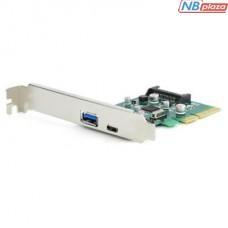 Контроллер PCI-Express to 1 USB+Type-C 3.1 GEMBIRD (PEX-U31-01)
