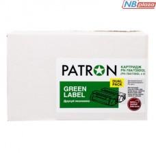 Картридж PATRON HP LJ CB435A/CANON 712 GREEN Label (DUAL PACK) (PN-35A/712DGL)